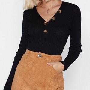 Nasty gal Henley sweater